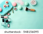 makeup products with cosmetic... | Shutterstock . vector #548156095