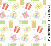 seamless pattern with gift... | Shutterstock .eps vector #548158924