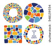 Set Of Mosaic Design Elements...