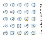 meter vector icons in thin line ... | Shutterstock .eps vector #548161051
