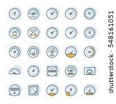 meter vector icons in thin line ... | Shutterstock .eps vector #548161051