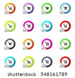 shopping bascket pointer on the ... | Shutterstock .eps vector #548161789