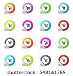 shopping bascket pointer on the ... | Shutterstock .eps vector #548161789