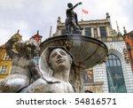 Neptune fountain of Gdansk - Poland - stock photo