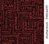 advertising. seamless vector... | Shutterstock .eps vector #54816655