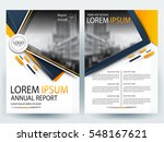 abstract vector modern flyers... | Shutterstock .eps vector #548167621
