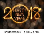 happy new year 2018 text... | Shutterstock . vector #548175781