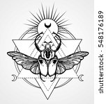 bug goliath. esoteric symbol ... | Shutterstock .eps vector #548176189