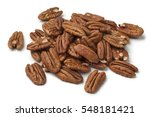 Heap Of Shelled Pecan Nuts On...
