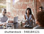 group of businesspeople meeting ... | Shutterstock . vector #548184121