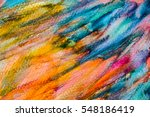 abstract hand painted... | Shutterstock . vector #548186419