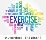 exercise word cloud  fitness ... | Shutterstock .eps vector #548186647