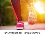 fitness woman training and... | Shutterstock . vector #548190991