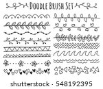 set of doodle brush isolated on ... | Shutterstock .eps vector #548192395