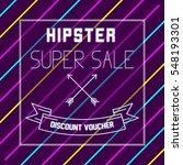 hipster poster design template | Shutterstock .eps vector #548193301