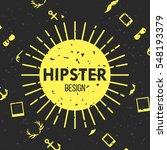 hipster poster design template | Shutterstock .eps vector #548193379