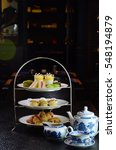 Small photo of Afternoon tea in restaurant.