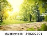 wooden table in garden of... | Shutterstock . vector #548202301