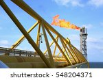 offshore construction platform... | Shutterstock . vector #548204371