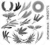 creative wheat ears   laurel... | Shutterstock .eps vector #54820771