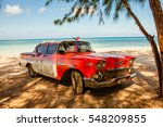 american classic car on the... | Shutterstock . vector #548209855