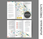 color tri fold business... | Shutterstock .eps vector #548210671