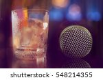 microphone in bar for karaoke ... | Shutterstock . vector #548214355