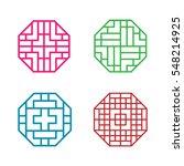 Set Of Hexagon Korean Pattern...