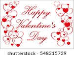 happy valentine's day  red... | Shutterstock .eps vector #548215729
