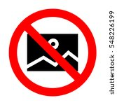 no picture icon.  | Shutterstock .eps vector #548226199