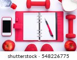 workout planning. healthy... | Shutterstock . vector #548226775