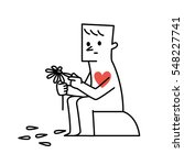 vector illustration man... | Shutterstock .eps vector #548227741