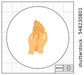 Hands Massaging Foot Icon