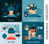 virtual reality flat concept... | Shutterstock .eps vector #548233294
