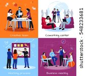 coworking people 2x2 design... | Shutterstock .eps vector #548233681