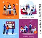 coworking people 2x2 design... | Shutterstock .eps vector #548233681