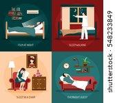 sleeping poses design concept... | Shutterstock .eps vector #548233849