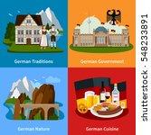 germany travel flat concept... | Shutterstock .eps vector #548233891