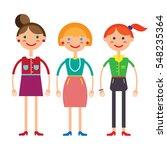 vector illustration of three... | Shutterstock .eps vector #548235364