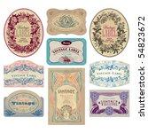 vintage labels set  vector | Shutterstock .eps vector #54823672