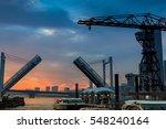 tokyo skyline at dusk  | Shutterstock . vector #548240164