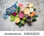 detox juice | Shutterstock . vector #548242825