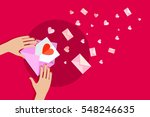valentines day illustration.... | Shutterstock .eps vector #548246635