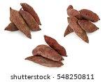 sweet potato  isolated on white ... | Shutterstock . vector #548250811