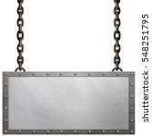 metal signboard isolated on... | Shutterstock . vector #548251795