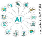 artificial intelligence and... | Shutterstock .eps vector #548251909
