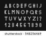 simple minimalistic font... | Shutterstock .eps vector #548256469