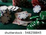 poker chips on the table | Shutterstock . vector #548258845