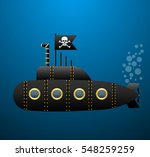 black pirate submarine under... | Shutterstock .eps vector #548259259