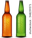 beer bottle with many waters... | Shutterstock .eps vector #548259571